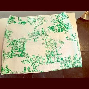 Lily Pulitzer green and white skirt- never worn!